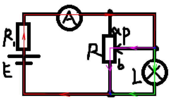 如何看电路图中分流电路的电流走向