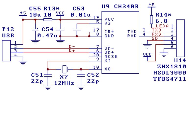 CH340 USB转串口芯片的中文数据手册免费下载