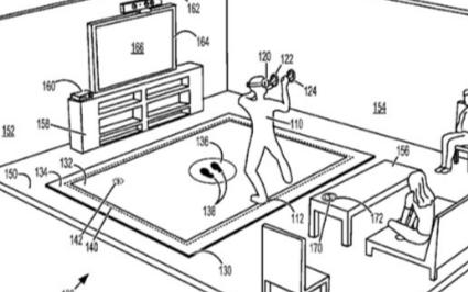 微软新专利曝光,一款用于VR设备的智能地垫