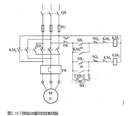 自动控制的电动机可逆运行电路