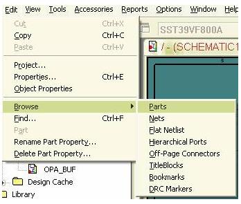 如何快速的浏览OrCAD图文中整个工程的元素