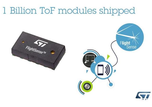 STMicroelectronics sells 1 billion ToF sensor modules