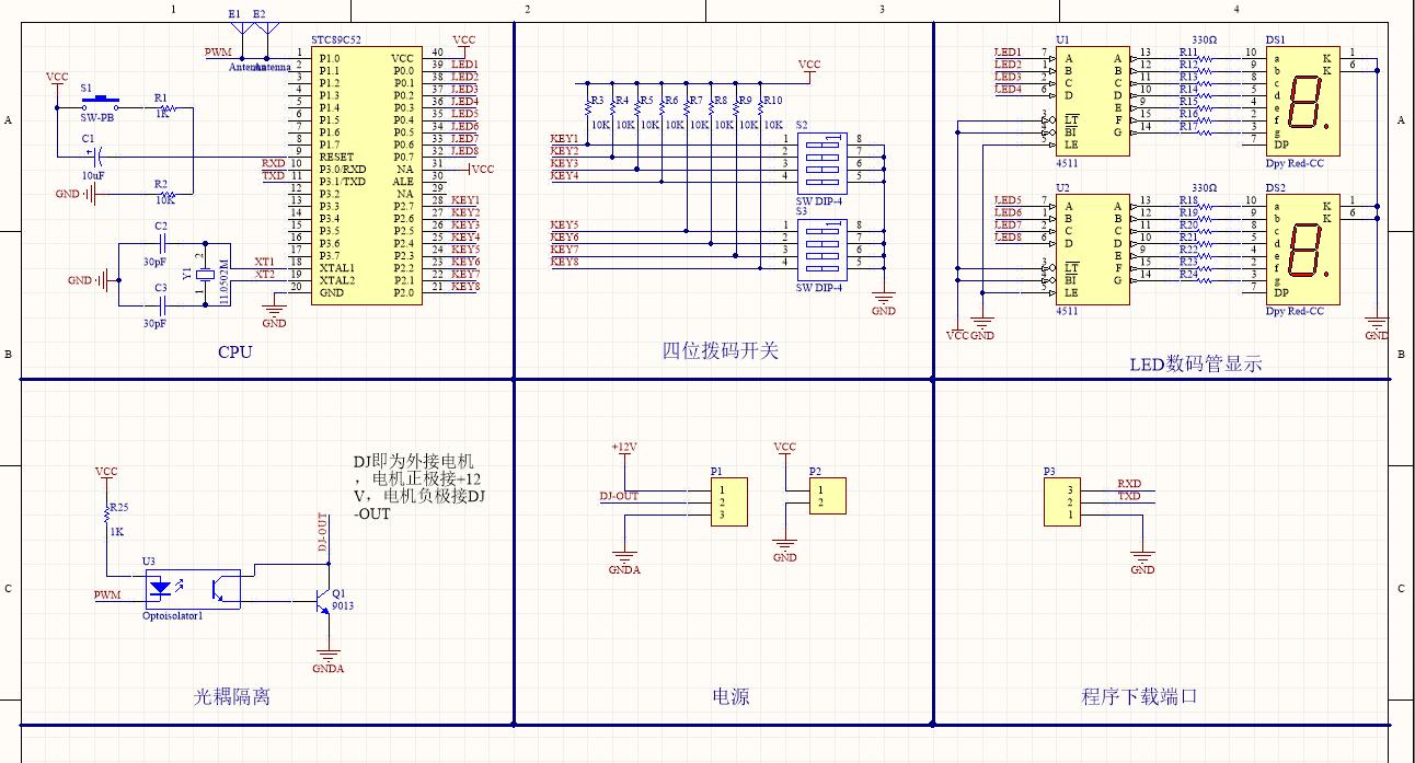 求程序:可调占空比的PWM模块