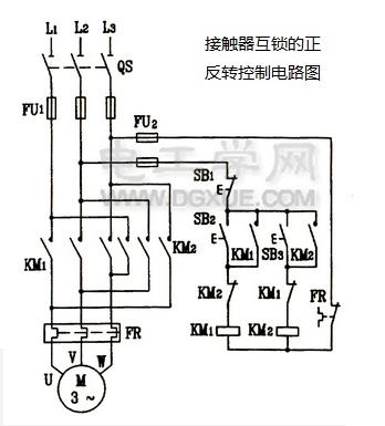 接觸器互鎖的正反轉控制電路
