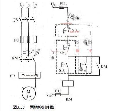 三相异步电动机多地控制和顺序控制线路分析