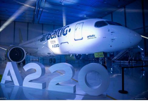 空中客车A220系列飞机已获得了全球530架确认订单