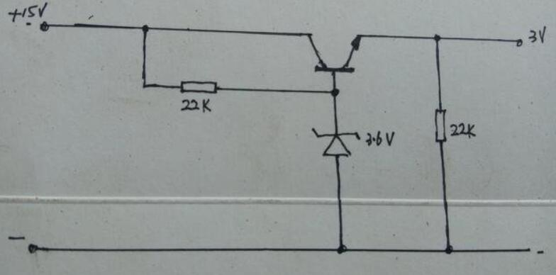 如何将15V转换为3V输出