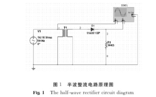 使用Multisim实现整流滤波电路仿真的分析