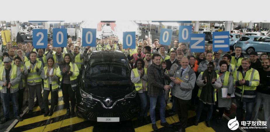 雷诺电动汽车ZOE最受欢迎,弗林斯工厂已生产20万辆电动汽车