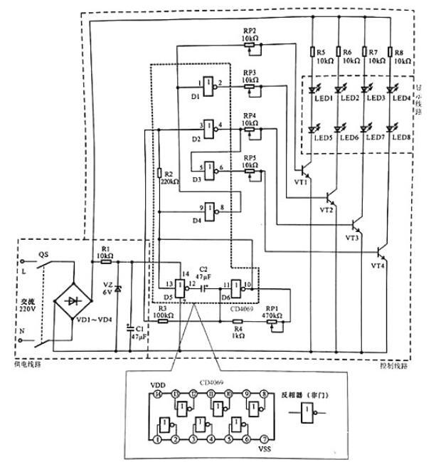 典型LED广告灯线路原理图