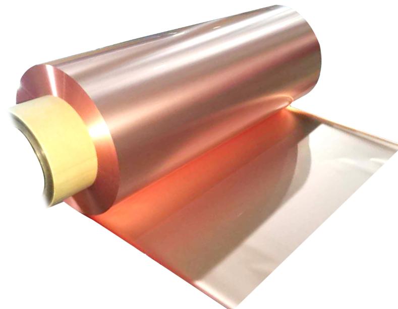 圣达电气研发生产的4.5微米高端锂电铜箔中试样品