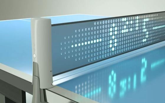中科院智能乒乓球桌,可检测球速和跟踪路径
