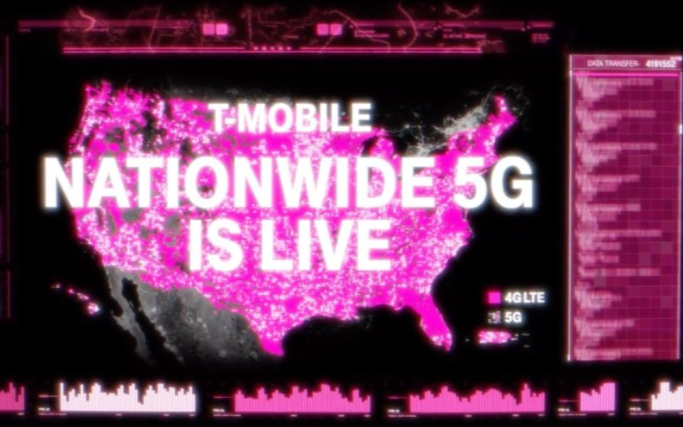 T-Mobile推出美国首个低频段600MHz 5G网络