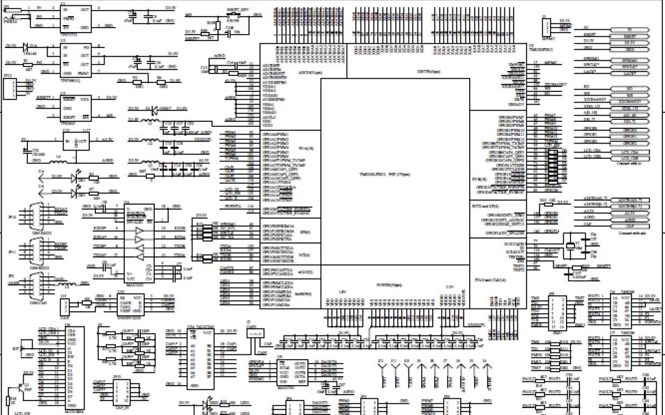 DSP实验板的原理图详细资料分析