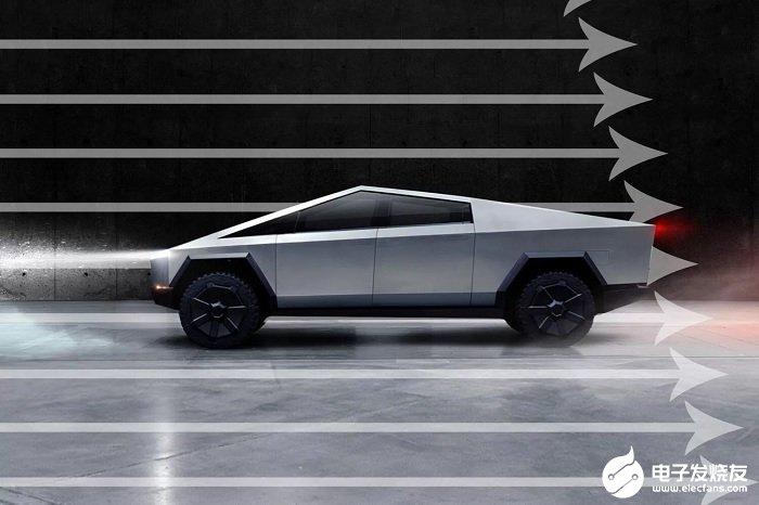 特斯拉Cybertruck电动皮卡采用空气动力学设计,阻力系数将至0.30