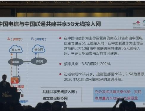 中国电信与中国联通将共建共享5G无线接入网