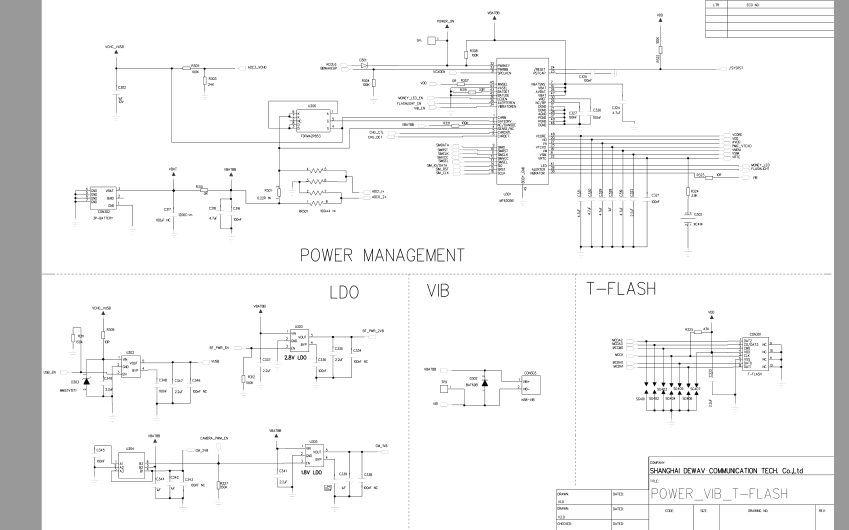 金立v5500手机的电路原理图好pcb与维修手册免费下载