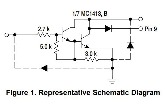 MC1413和MC1413B与NCV1413B晶体管的数据手册免费下载