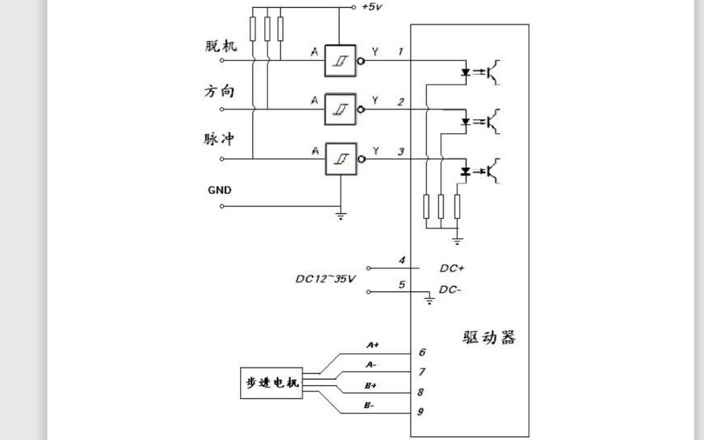 NS8A25步进电机驱动器的中文资料详细说明