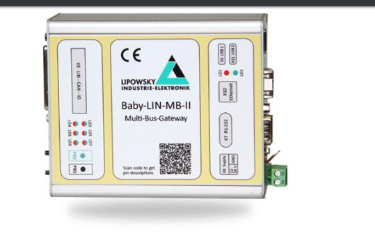 RS232Ethernet转LIN接口模块Baby-LIN-MB-II的用户手册