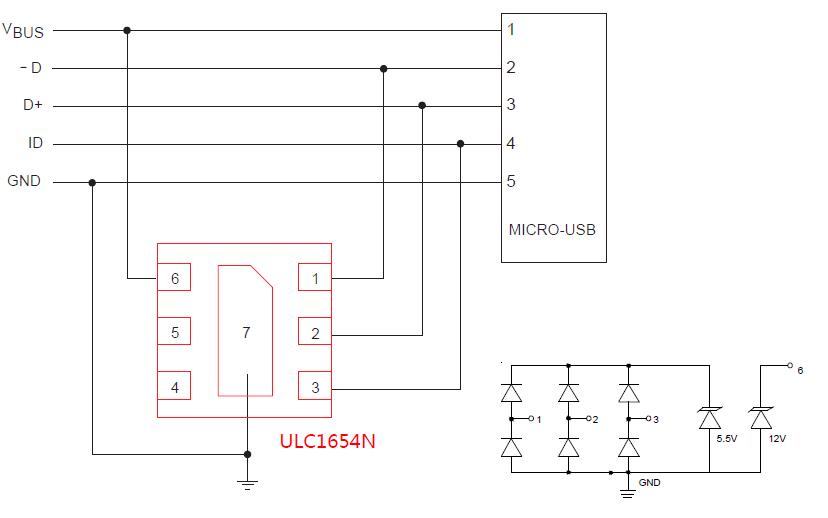 USB2.0静电保护方案的详细资料说明