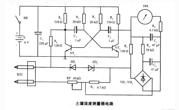 土壤湿度测量器电路
