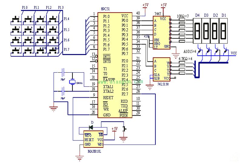 基于AT89C2051单片机的智能控系统设计