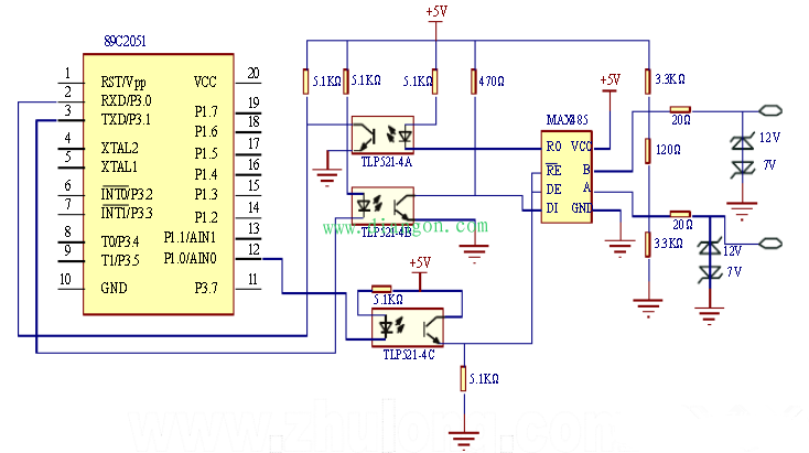 基于AT89C2051单片机的智能照明控制系统设计