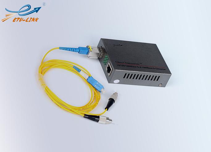 光纤收发器的种类以及与光模块、跳线的连接使用