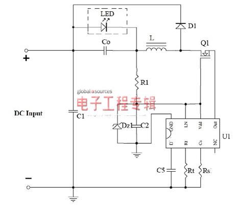 非隔離降壓恒流LED驅動電源控制設計