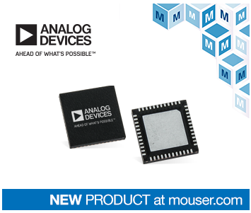 Mouser Launches Analog Devices ADF5610 Broadband Frequency Synthesizer