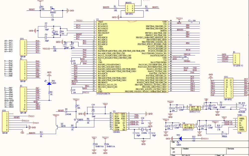 ZYSTM32-A0智能機器人主板的電路原理圖免費下載