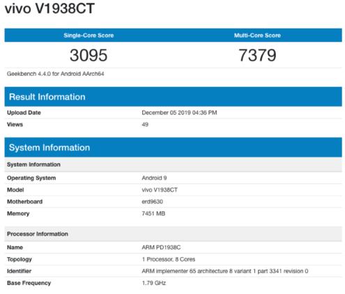 vivo X30 5G版跑分曝光单核心为3095...
