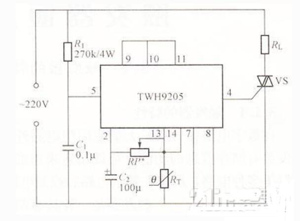 温度控制器电路说明