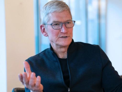 库克称苹果依赖中国供应商,在美国创造超200万就业机会
