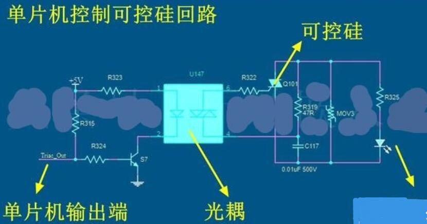 可控硅控制交流负载回路的通断