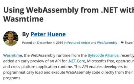 .NET应用程序可以直接调用WebAssembly模块了
