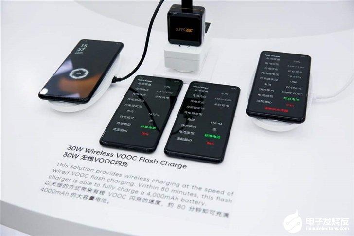 OPPO屏下摄像头演示机展示,支持30W无线VOOC闪充功能