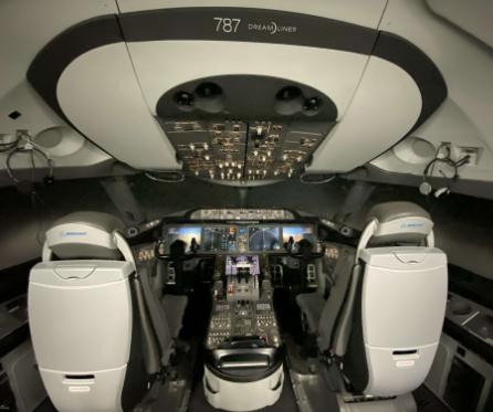 波音787梦想飞机模拟机已正式完成了升级