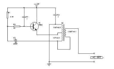 简易低压单管逆变电路的原理分析