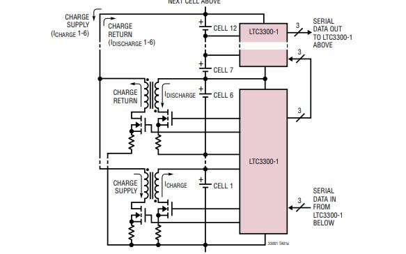 LTC3300-1高效率双向多节电池的电池组平衡器的数据手册免费下载