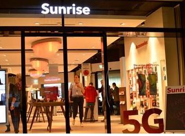 瑞士运营商Sunrise已经为超过331个城镇提...