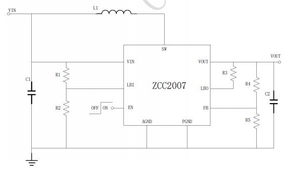 ZCC207高效率同步Boost变换器的数据手册免费下载
