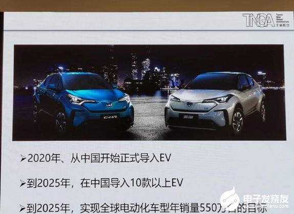 丰田定下目标 预计2025年全球电动化车型年销量550万台
