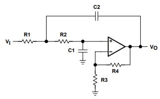 有源低通滤波器设计的详细资料说明