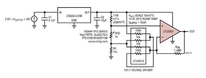 薄膜鉑電阻SPICE模型溫度掃描用于IC電子電路...