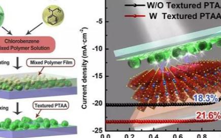 聚合物織構結構在鈣鈦礦太陽能電池的應用
