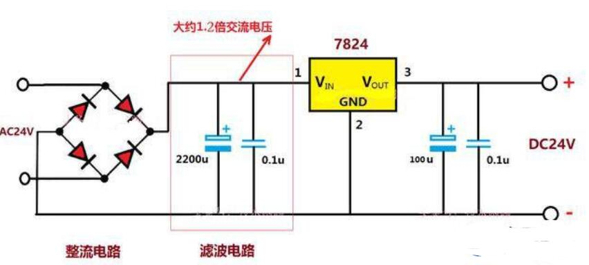 简易25V电源电路图
