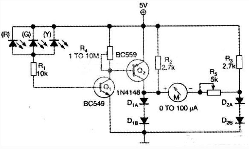 简易光二极管电路图