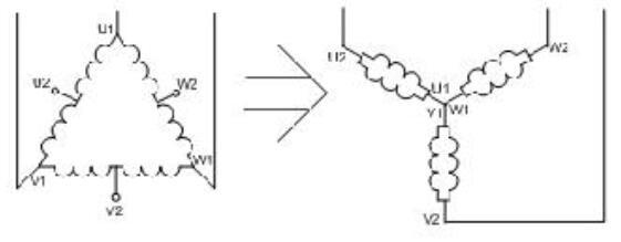雙速電機6根線怎么接_雙速電機實物接線圖